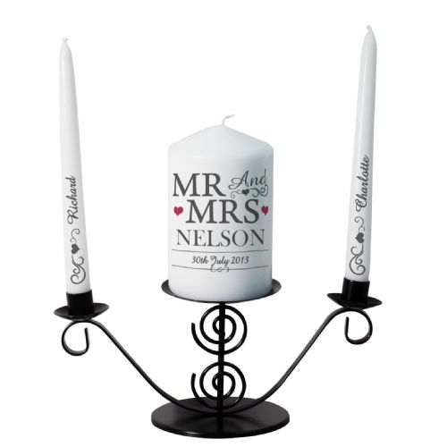 Personalised Mr & Mrs Unity Candle